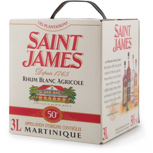 SAINT JAMES - Cubi 3L 50°, rhum blanc agricole AOC - Martinique