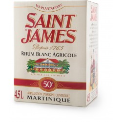 SAINT JAMES - Cubi 4.5L 50°, rhum blanc agricole AOC - Martinique
