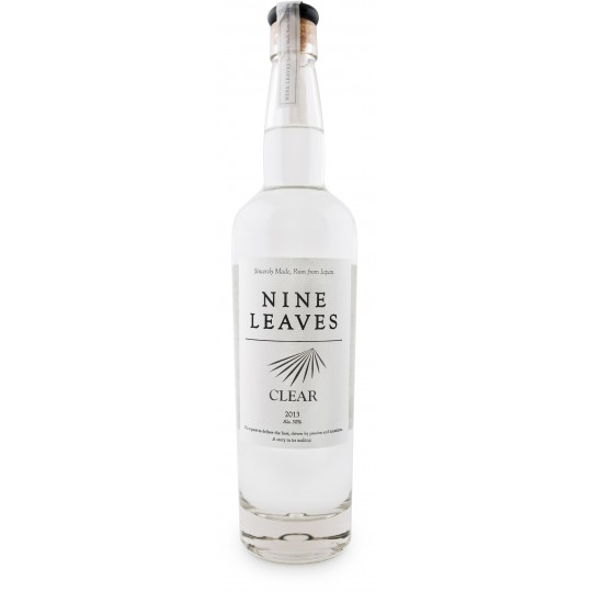 NINE LEAVES - Clear, rhum blanc 70cl 50° - Japon
