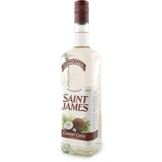 SAINT JAMES - Cristal Coco, liqueur 70cl 25° - Martinique