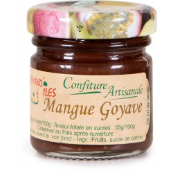 GOURMAND'ILES - Mangue Goyave, confiture artisanale 50g - Martinique