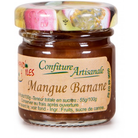 GOURMAND'ILES - Mangue banane, confiture artisanale 50g - Martinique