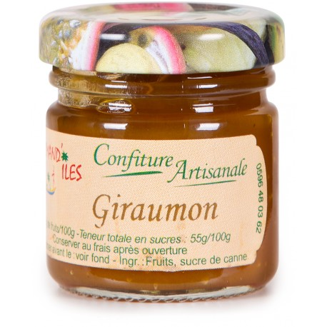 GOURMAND'ILES - Giraumon, confiture artisanale 50g - Martinique