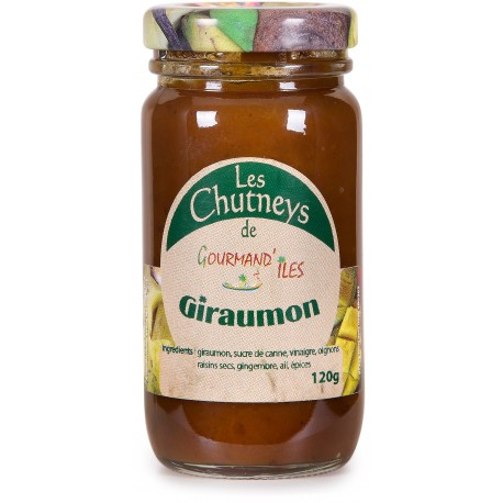GOURMAND'ILES - Giraumon, chutney 120g - Martinique