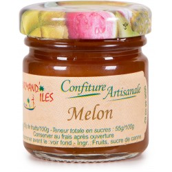 GOURMAND'ILES - Melon, confiture artisanale 50g - Martinique