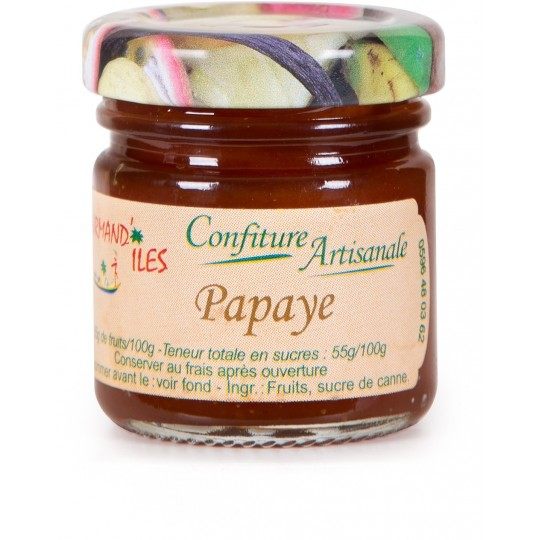 GOURMAND'ILES - Papaye, confiture artisanale 50g - Martinique