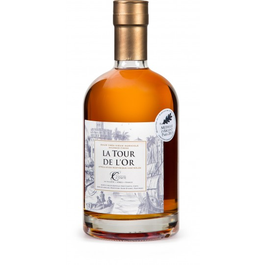 CHANTAL COMTE - la Tour de l'Or, Bourbon Finish, rhum vieux agricole AOP 70cl 46.5° - Martinique