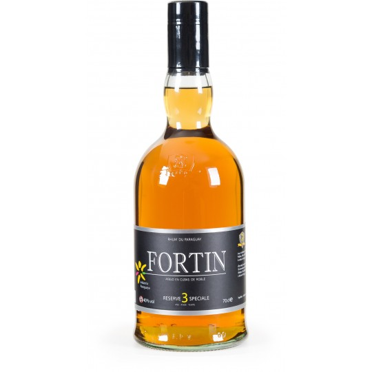 FORTIN - 3 ans, rhum vieux 70cl 40° - Paraguay