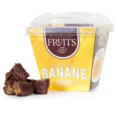 CARIB'FRUITS - Banane séchée, gamme Fruits Only 180g - Martinique