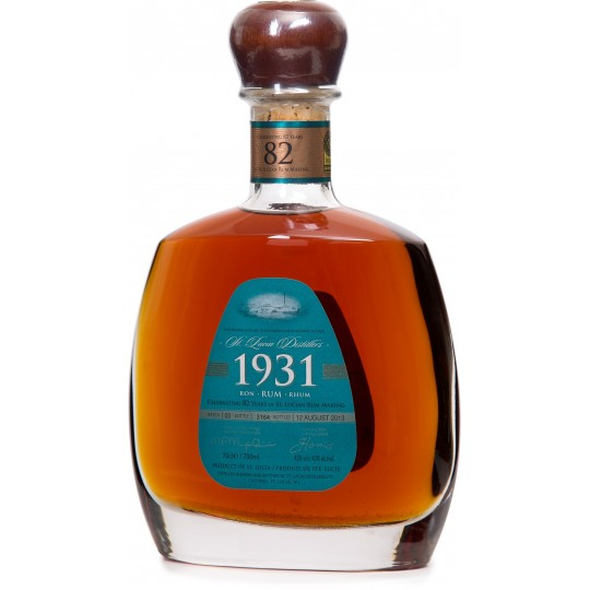 SANTA LUCIA 1931 - 3ème  Edition celebrating 82 years, rhum vieux 70cl 43° - Sainte Lucie