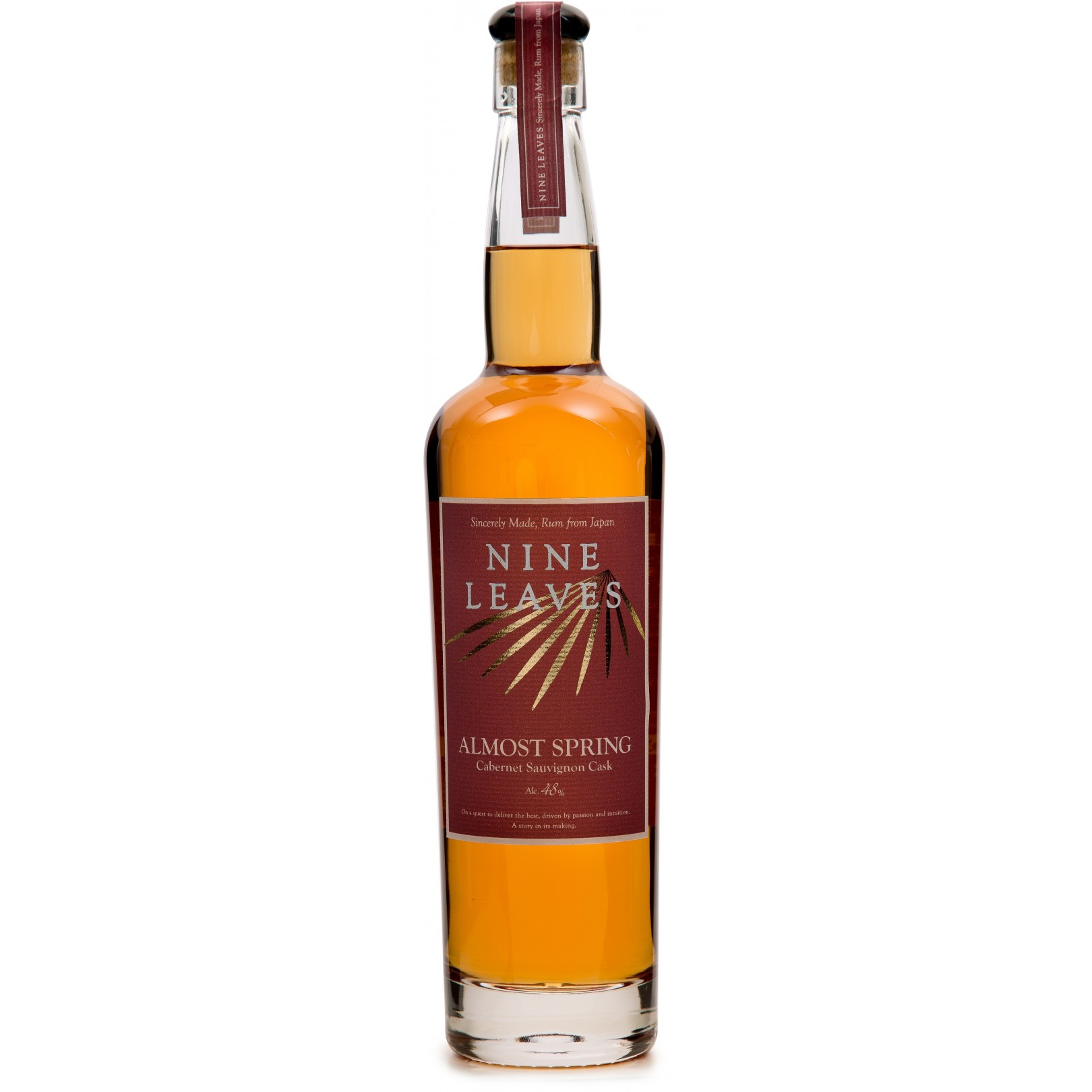NINE LEAVES - Almost Spring Cabernet Sauvignon Cask, rhum vieux 70cl 48° - Japon