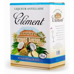 CLEMENT - Punch Pina Colada Cubi 3L 18° - Martinique