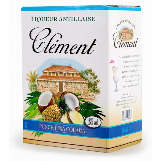 CLEMENT - Punch Piña Colada Cubi 3L 18° - Martinique
