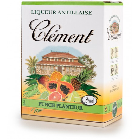 CLEMENT - Cubi Punch Planteur 3L 18° - Martinique