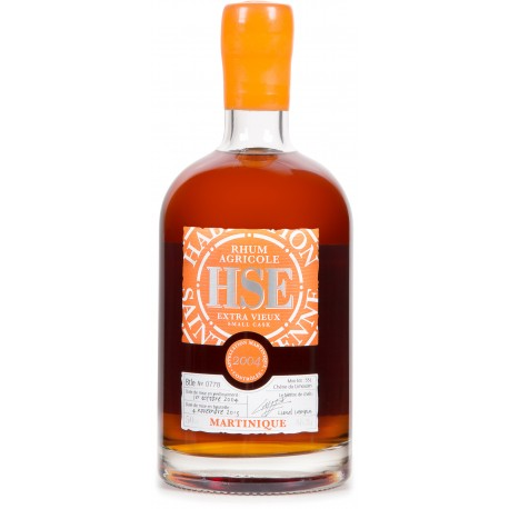 HSE- Small Cask 2004, rhum extra vieux 50cl 46° - Martinique
