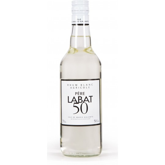 PERE LABAT - Blanc 50, rhum blanc agricole 70cl 50° - Marie-Galante Guadeloupe