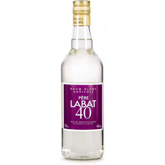 PERE LABAT - Blanc 40, rhum blanc agricole 70cl 40° - Marie-Galante Guadeloupe