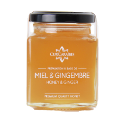 CUR'CARAIBES - Miel Gingembre 200g - Guadeloupe