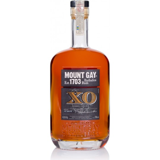 MOUNT GAY - Extra old XO, rhum vieux, 70cl 43° - Barbade