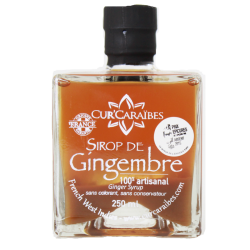 CUR'CARAIBES - Sirop de gingembre 250ml - Guadeloupe