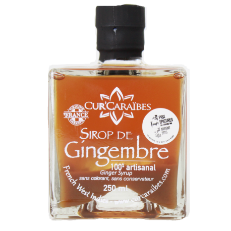 CUR'CARAIBE - Sirop de gingembre 250ml - Guadeloupe