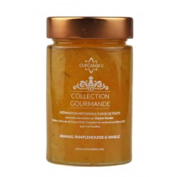 CUR'CARAIBES - Confiture ananas pamplemousse vanille - 220g - Guadeloupe