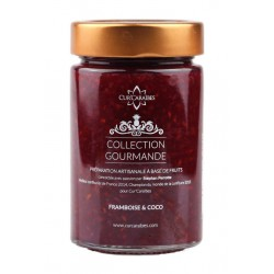 CUR'CARAIBES - Confiture framboise coco - 220g - Guadeloupe