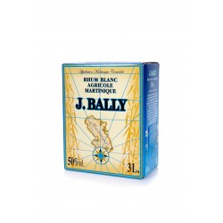 J.BALLY - Cubi 3l 50° rhum blanc agricole  - Martinique