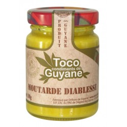 DELICES DE GUYANE - Moutarde Diablesse, Toco 95g - Guyane