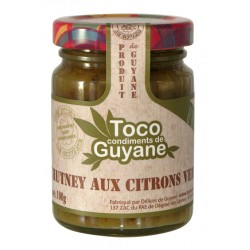 DELICES DE GUYANE - Chutney aux citrons verts, Toco 100g - Guyane