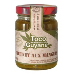 DELICES DE GUYANE - Chutney aux mangues, Toco 100g - Guyane